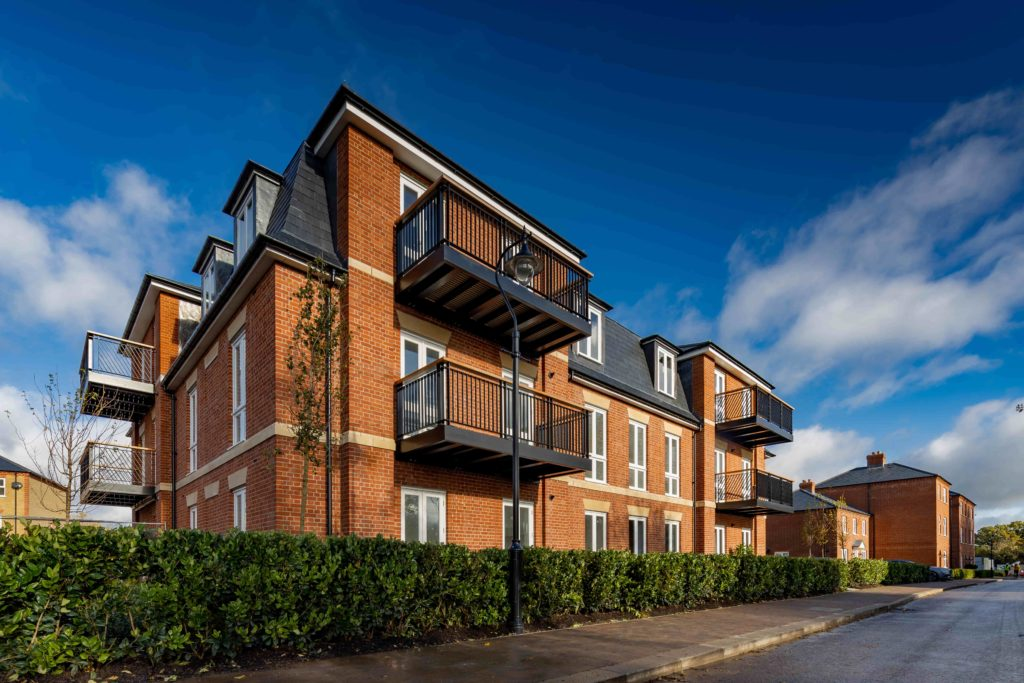 Exterior of 1, 2 & 3 Bedroom apartment The Chase Collection within the grounds of Trent Country Park, Enfield, North London.