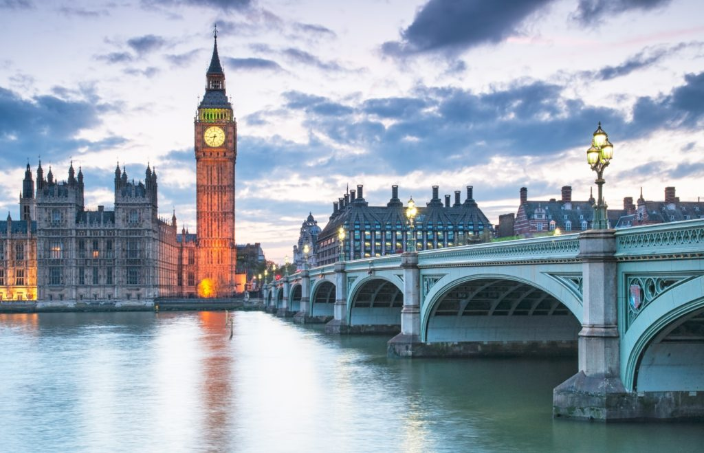 A view of Big Ben and The Houses of Parliament in London. London Tourist Attractions.
