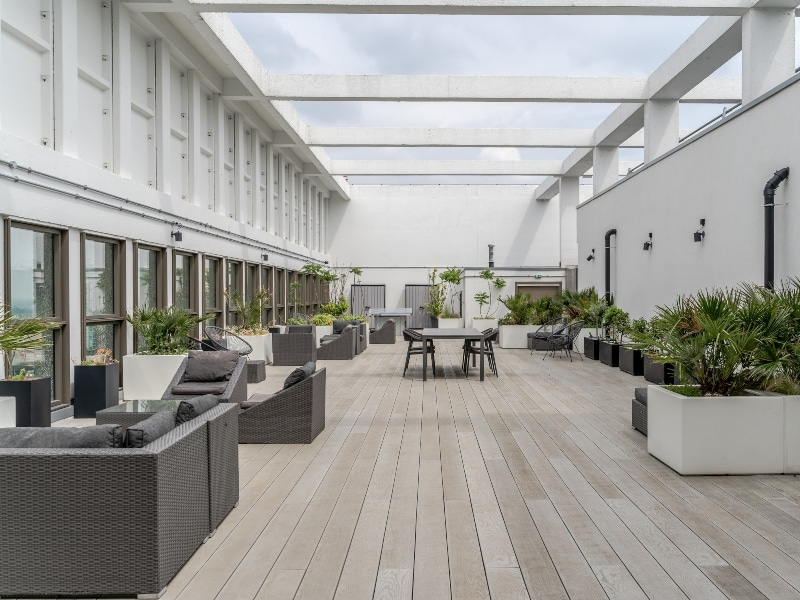 Roof terrace at Leon House